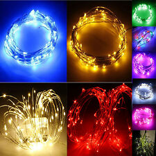 10M 33ft 100 LEDS LED Starry Lights String Fairy   Power Adapter Waterproof