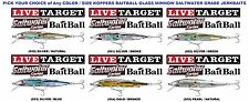 Koppers Live Target Baitball Glass Minnow Jerkbait (GBB) Saltwater Lures - Any