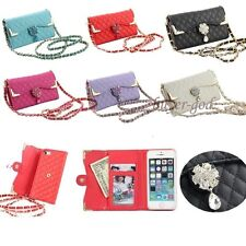 Bling Wristlet handbag Leather Flip Wallet Cover Case For iPhone 5S 6 6S 7 7Plus