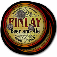 Finlay Beer and Ale Coasters - 4pak - Great Gift