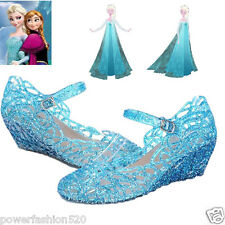 Frozen Elsa Princess Queen Anna Fancy Dress up Cosplay Jelly Shoes