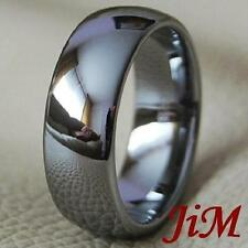 Tungsten Carbide Mens Ring Classic Wedding Band Jewelry Titanium Color Size 6-15
