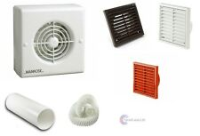Manrose XF100A Shutter Extractor Bathroom Fan Std Timer Pull Cord Humidity Kit