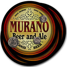Murano Beer and Ale Coasters - 4pak - Great Gift