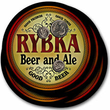Rybka Beer and Ale Coasters - 4pak - Great Gift