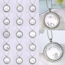 30MM Authentic Round Clear Pure Face Floating Living Locket Rhinestone Crystals