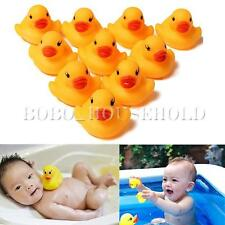 10/20 Pcs Baby Kid Cute Bath Rubber Ducks Children Squeaky Ducky Water Play Toy