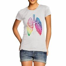 Womens Cotton Novelty Funny Gift Coloured Lungs Tank Top