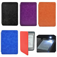 Ultra Thin Hard Leather Case Cover With Built-in LED Light For Kindle 4 / 5 th