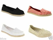 WOMENS ROCKET DOG CLOVER CASUAL SUMMER FLAT PUMPS ESPADRILLES SHOES SIZE 3-8 NEW