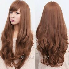 New style Fashion Long Curly Wavy Wigs Cosplay women's Girl Hair Full Wig Party