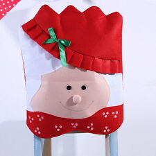 Mr&Mrs Santa Claus Kitchen Chair Covers Set Dining Decor Holiday Christmas Chic