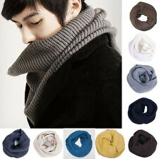 New Hot Men Women Winter Warm Soft Long knit Neck Cable Round Circle Scarf Shawl