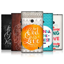 HEAD CASE FAMOUS BIBLE VERSE SNAP-ON BACK COVER FOR NOKIA LUMIA 525