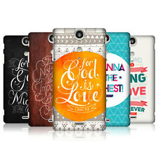 HEAD CASE FAMOUS BIBLE VERSE SNAP-ON BACK COVER FOR SONY XPERIA TX LT29i