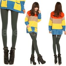 Winter Casual Thick Stretch Skinny Tights Warm Stirrup/Footless Leggings Pants #