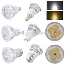 E14 GU10 E27 12W 4LED Dimmerabile Lampadina Downlight Caldo Bianco Puro