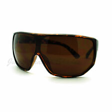 Mens Goggle Sunglasses Super Oversized Shield Wrap Super Dark Lens
