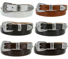 Silver Diamond - Italian Calfskin Genuine Leather Designer Dress Belt, 1-1/8""