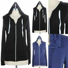 Casual Drawstring Hooded Zip Up Jacket Long Sleeve Comfy Rayon S M L 1XL 2XL