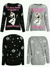 Do You Want To Build Snowman Frozen Olaf Christmas Jumper Xmas Sweater Top Gift