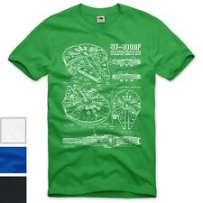 style3 Millennium Falcon Herren T-Shirt blaupause falkon star darth wars solo ha