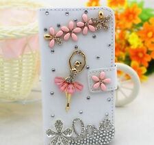 Love Ballet Bling Diamond Crystal Card Wallet Pouch Leather Case Cover For Sony