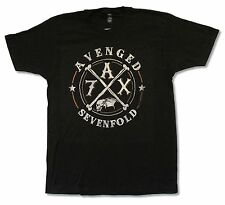 "AVENGED SEVENFOLD ""CROSSING OVER TOUR 2014""  BLACK T-SHIRT NEW OFFICIAL A7X"