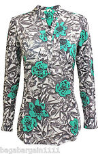 NEW WHITE STUFF AMELIEA GREEN BLACK IVORY TUNIC BLOUSE SHIRT TOP SIZE 8 - 18