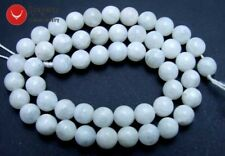"Genuine 8mm Round Natural High quality MoonStone gemstone Beads 15"" strand-601"