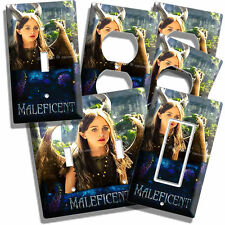DISNEY YOUNG GIRL MALEFICENT HORNS WINGS ROOM DECOR LIGHT SWITCH OUTLET PLATES