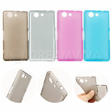 Ultra Thin Matte Soft TPU Cover Case For Sony Xperia Z3 Compact M55W + Free Film