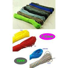 Outdoor Survival Nylon Desert Parachute Cord Paracord 550 7 Cores Strand 100FT