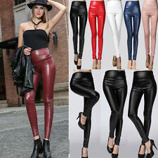 Sexy Women Metallic Liquid Wet Legging Stretch Skinny Hight Waist Dance Pants