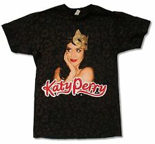 KATY PERRY KITTY MASK TOUR 2009 ALL OVER PRINT BLACK T-SHIRT NEW OFFICIAL