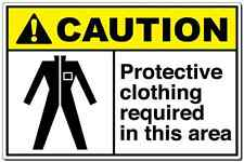 """""""Caution Sign Protective Clothing Required In This Are"""" aluminum metal sign OSHA"""
