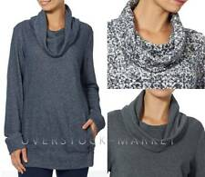 NEW WOMENS GLORIA VANDERBILT SPORT AUDRY FRENCH TERRY COWL NECK PULLOVER VARIETY