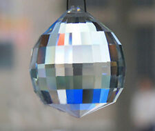 1 Polygon Clear Chandelier Glass Crystals Lamp Prisms Parts Drops Pendants 40mm