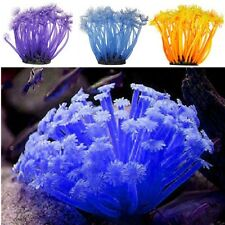 Artificial Anemone Fake Coral Plant Ornament Aquarium Fish Tank Decoration Decor