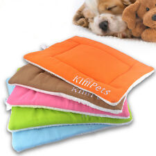Coral Fleece Ped Bed Mat Pad Dog Cat Warm Soft Cozy Pillow Cushion 43 x 33 CM