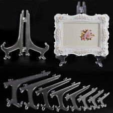 "Clear3""5""7""9"" Display Easel Stand Plate Bowl Picture Frame Photo Pedestal Holder"