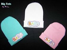 """Adult Baby  Knitted """"Baby"""" Cap *Big Tots by MsL*"""
