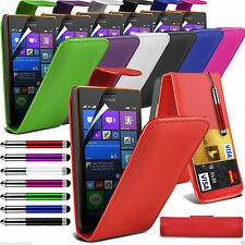 PU Leather Flip Wallet Case Cover & Screen Film & Stylus FOR Nokia Lumia Models