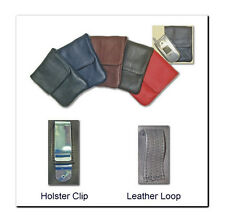 New Soft Leather Cases For Folding Flip Cell Phones -Or- Camera Case - USA Made!