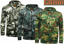 Game Army Camo Camouflage Zip Hoodie Hooded Top - Fishing, Hunting..