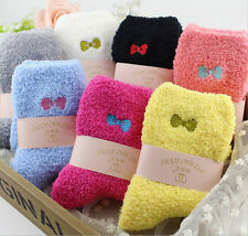 5 pairs of thick warm velvet bow embroidery spread the supply side towel socks