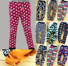 Toddler Kids Girls Clothing Various Pattern Thick Leggings Pants Trousers Sz2-7Y