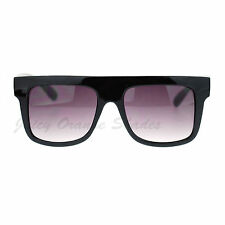 Flat Top Square Frame Sunglasses Retro Hip Unisex Fashion