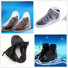 New Waterproof Non-slip Rain Shoes Cover Men Reusable Boots Gear Flat Overshoes
