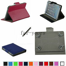 """Colorful Folio Claw Grip Stand Case Cover+Pen 7"""" ALCATEL ONETOUCH POP 7 Tablet"""